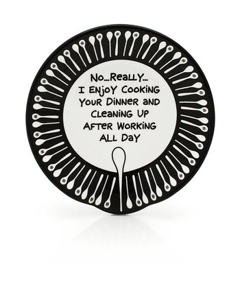 Black & White 'Enjoy' Spoon Rest