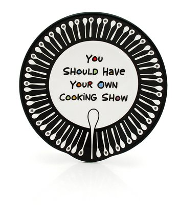 Black & White 'Cooking Show' Spoon Rest