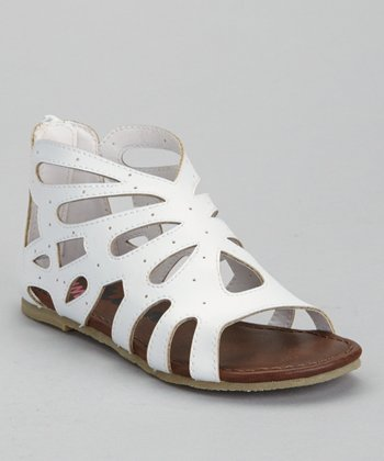 White Miss Gladdy Sandal