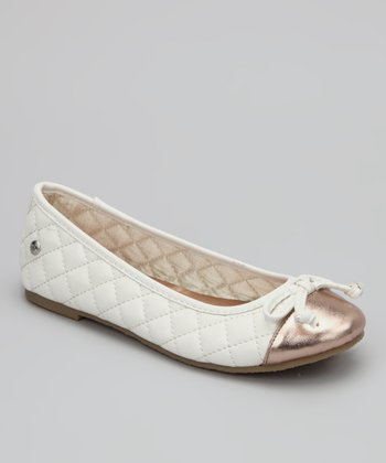 White Miss Eva Flat