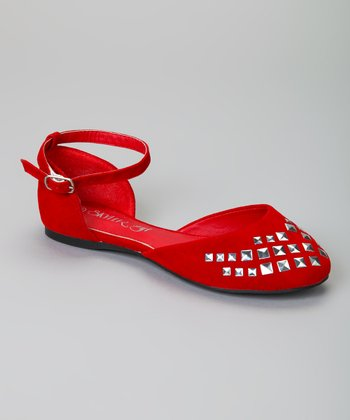 Red Studded Carry Flat