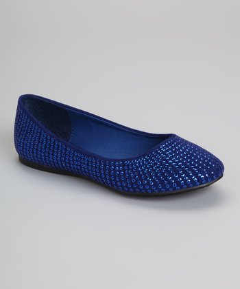 Blue Sequin Courtney Ballet Flat