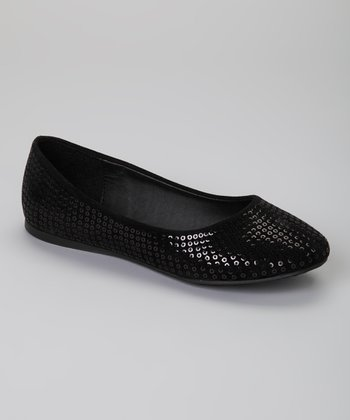 Black Sequin Courtney Ballet Flat