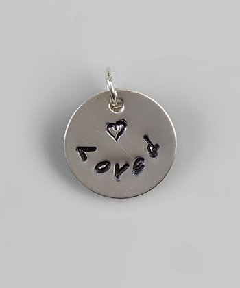 Sterling Silver 'Loved' Round Pendant
