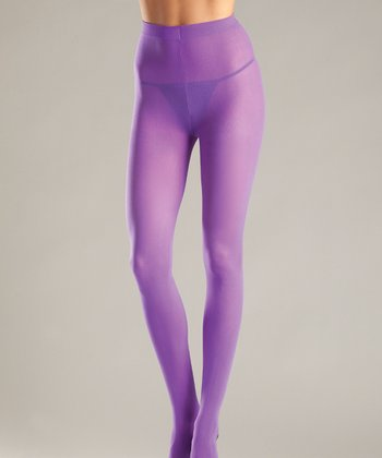Purple Opaque Tights - Women & Plus