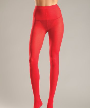 Red Opaque Tights - Women & Plus