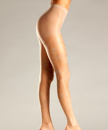 Nude Floral Tights - Women