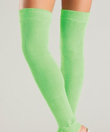 Neon Green Leg Warmers - Women