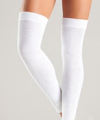 White Leg Warmers - Women