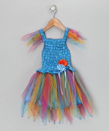 Blue Daisy Dress - Toddler & Girls