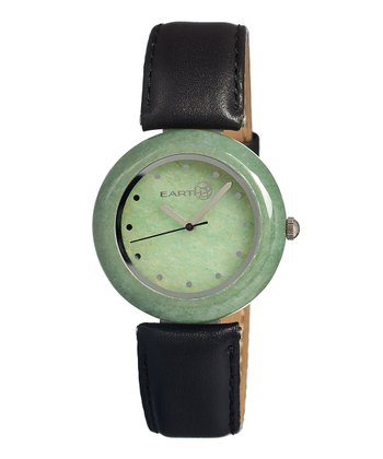 Black & Green Jasper Watch