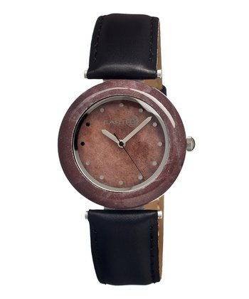 Black & Purple Stone Watch