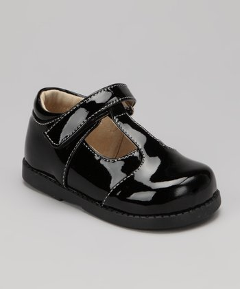 Black Patent Georgia T-Strap Shoe