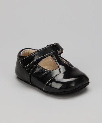 Black Patent Smaller Havana T-Strap Shoe