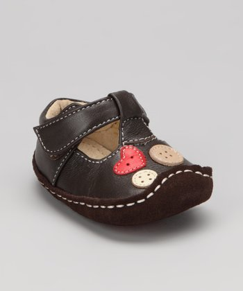Brown Smaller Liv T-Strap Shoe