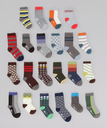 Bold Assorted Organic Socks - Set of 10