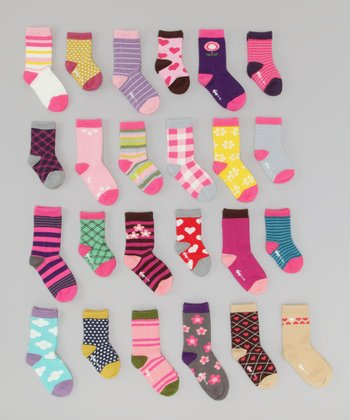 Pastel Assorted Organic Socks - Set of 10