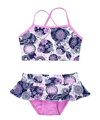 Cartwheel & Orchid Skirted Tankini - Toddler & Girls