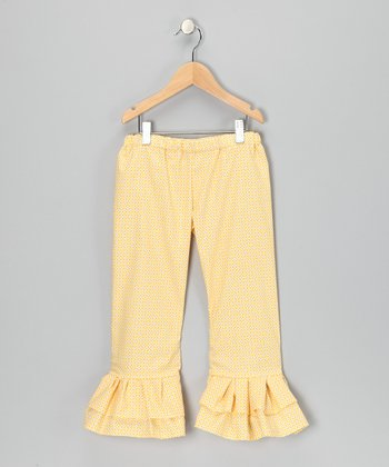 Yellow Charisma Ruffle Pants - Toddler & Girls