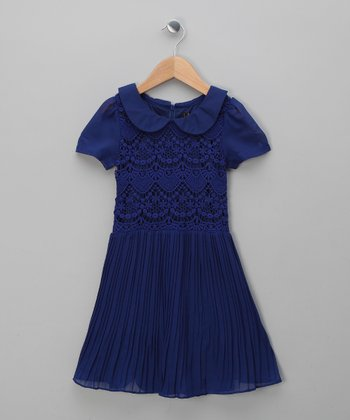 Blue Lace Party Dress