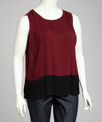 Merlot Plus-Size Sleeveless Top
