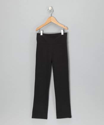 Black Yoga Pants - Toddler & Girls