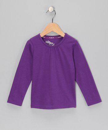 Purple Long-Sleeve Top - Toddler