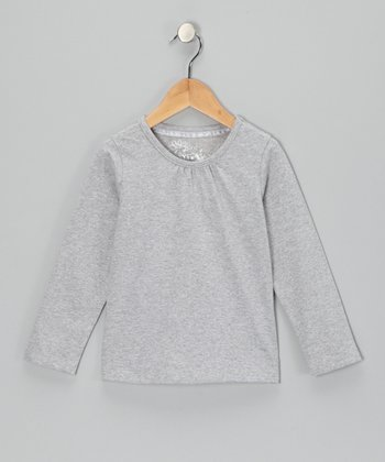 Gray Long-Sleeve Top - Toddler