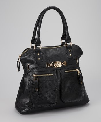 Black Double Pocket Tote
