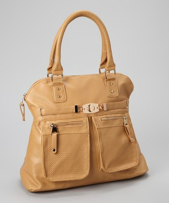 Light Brown Double Pocket Tote