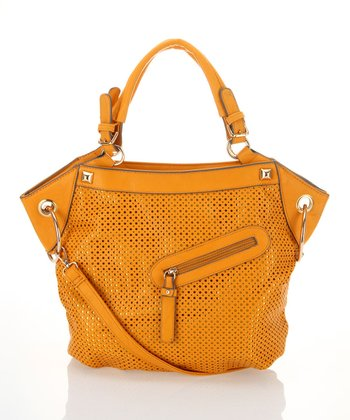 Mustard Perforated Tote
