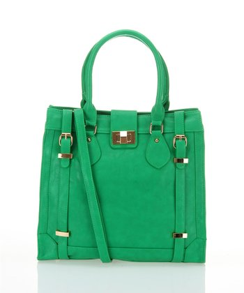 Green Buckle Tote