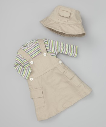 Khaki Skirt Doll Outfit