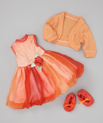 Orange Bubble Dress Doll Outfit