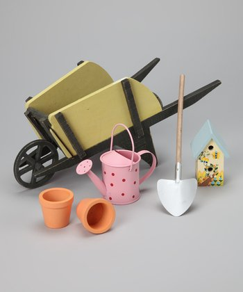 Doll Gardening Wagon Set