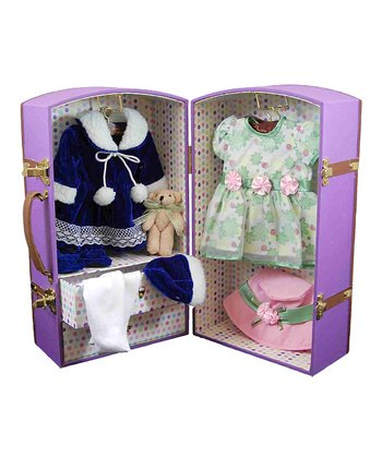 Purple Doll Wardrobe Set