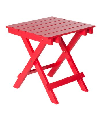 Red Adirondack Side Table