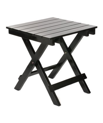 Black Adirondack Side Table