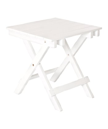 White Adirondack Side Table