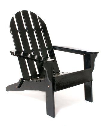 Black Adirondack Chair