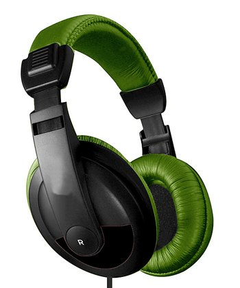 Green & Black DJ Headphones