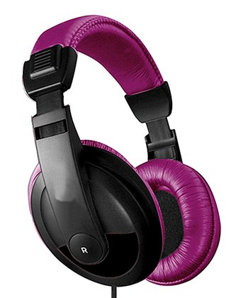 Purple & Black DJ Headphones