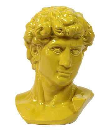 Yellow Greek Bust Figurine