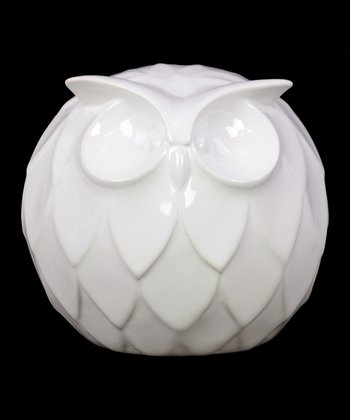 Large Round Ceramic Owl