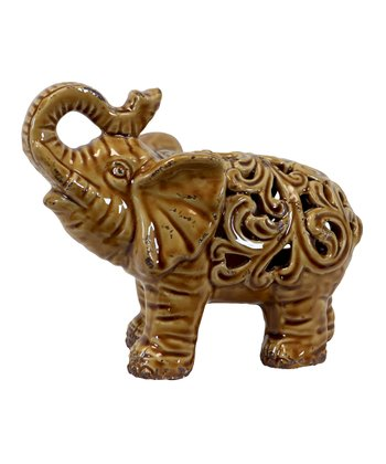 Brown Elephant Figurine
