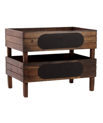 Large Wooden Storage Box - Set of Two