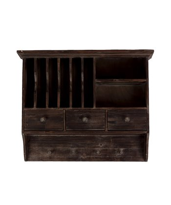 Dark Brown Rustic Wall Cabinet