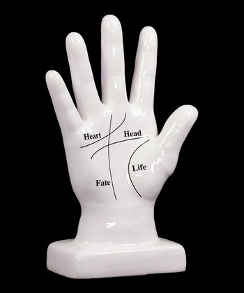 White Hand Sculpture