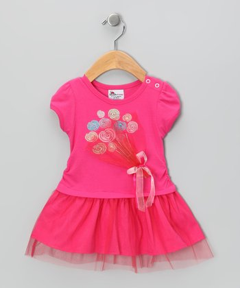 Hot Pink Balloons Dress - Infant & Toddler