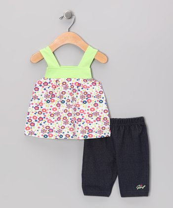 Pink & Navy Floral Top & Shorts - Infant & Toddler